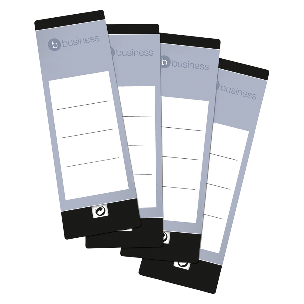 Business Spine Labels for Lever Arch File Self-adhesive 190x60mm [10 Labels]