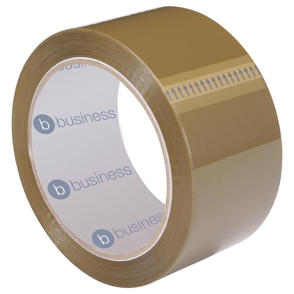 Business Packaging Tape Polypropylene 48mm x 66m Buff