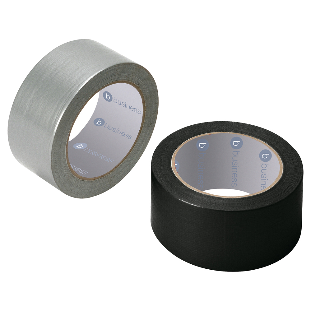 Image for Business Cloth Tape Heavy-duty Waterproof Tearable Multisurface Roll 50mm x 50m Black