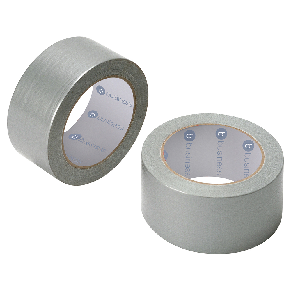 Image for Business Cloth Tape Heavyduty Waterproof Tearable Multisurface 50mmx50m Silver