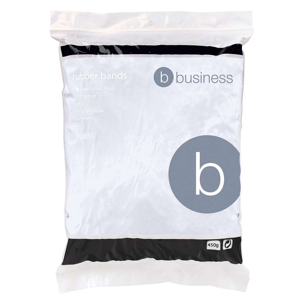 Image for Business Rubber Bands No.18 Each 76x1.5mm Approx 1600 Bands [Bag 0.454kg]