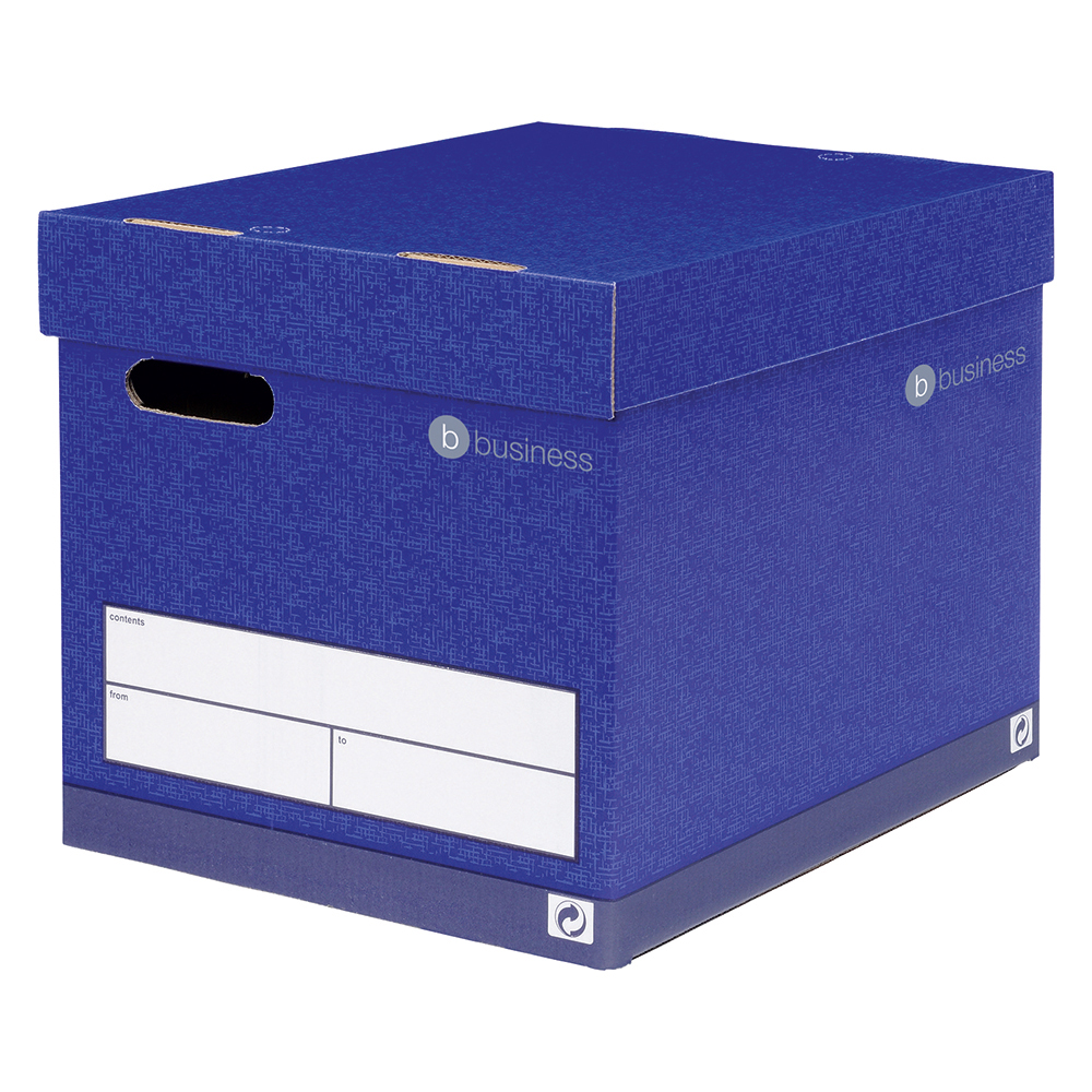 Image for Business Premium Superstrong Archive Storage Box Foolscap Blue [Pack 10]
