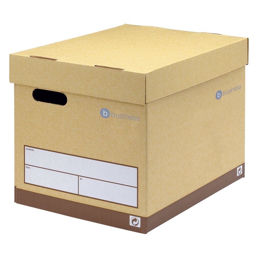 Image for Business Premium Superstrong Archive Storage Box Foolscap Sand [Pack 10]