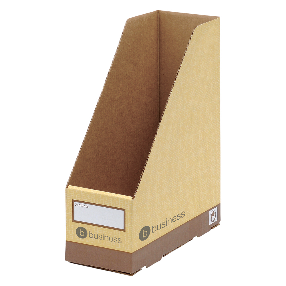 Business Premium Magazine File Quick-assembly A4 Plus Sand [Pack 10]