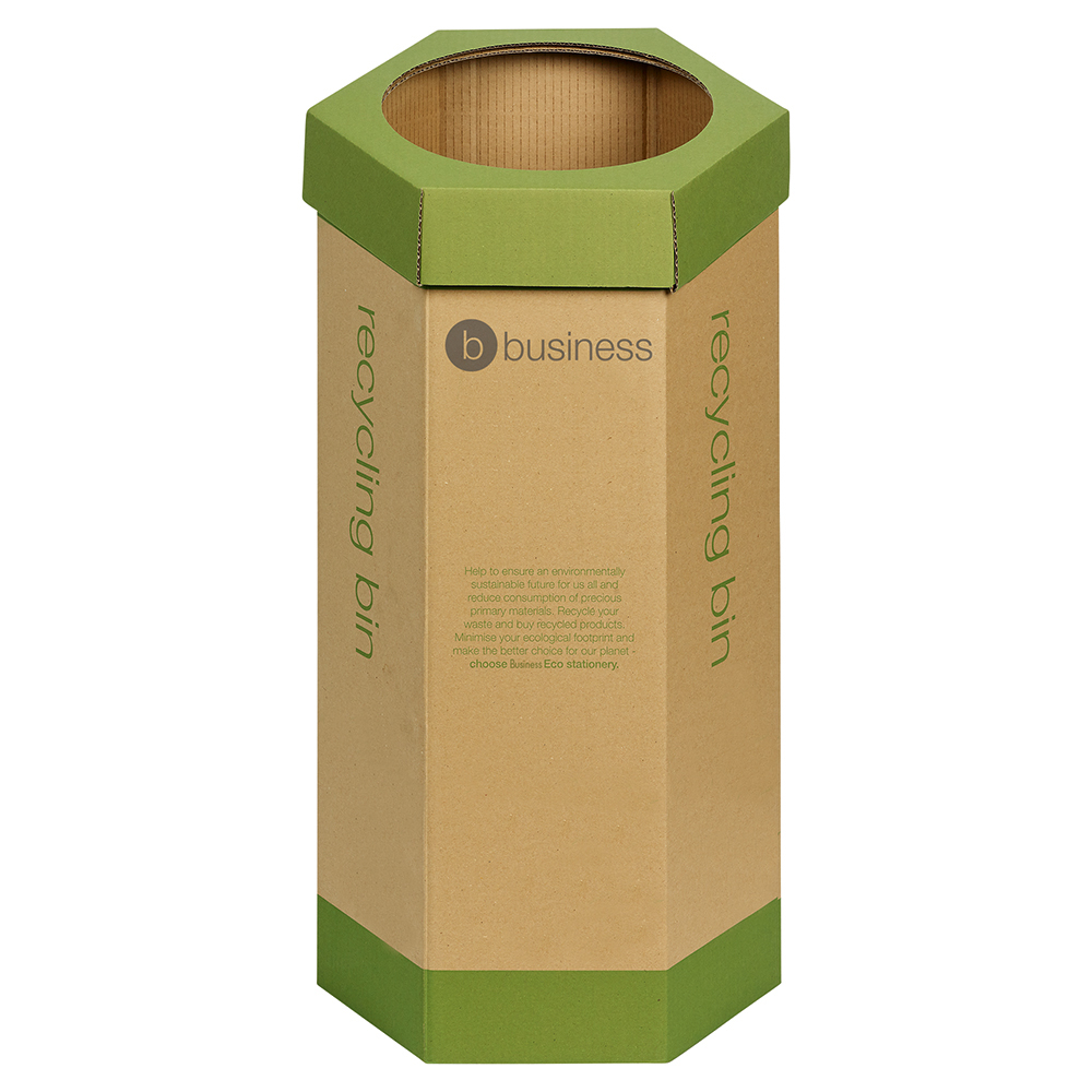 Business Eco Recycling Bin Cardboard [Pack 3]