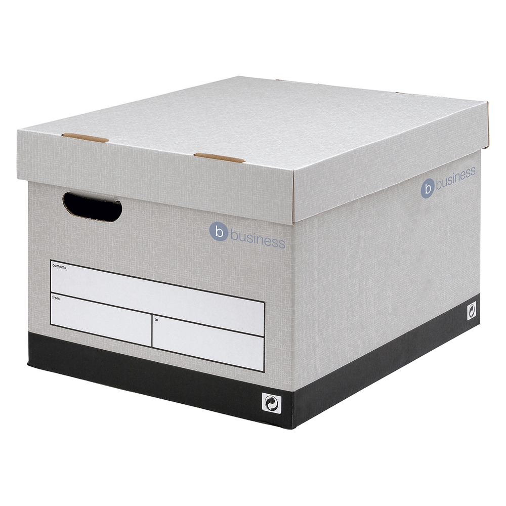 Image for Business Storage Box Quick-assembly Extra Large Grey [Pack 10]
