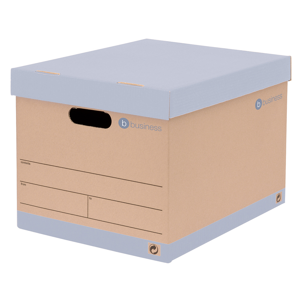 Image for Business Storage Box for 5 A4 Lever Arch Files Red & Brown [Pack 10]