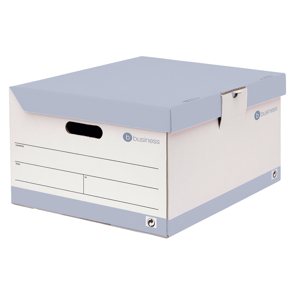 Business Storage Trunk Hinged Lid Red & White [Pack 10]