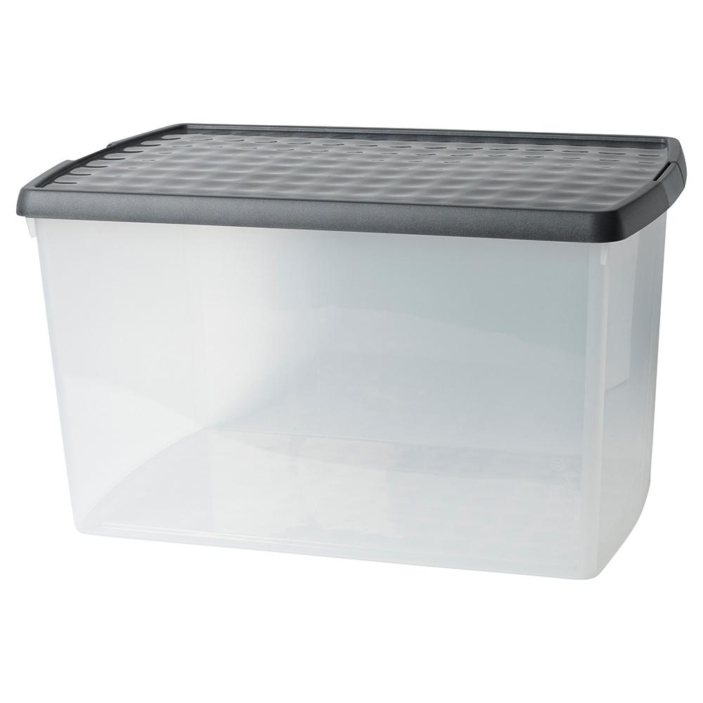 Business Premium Clip Box Plastic 62 Litre