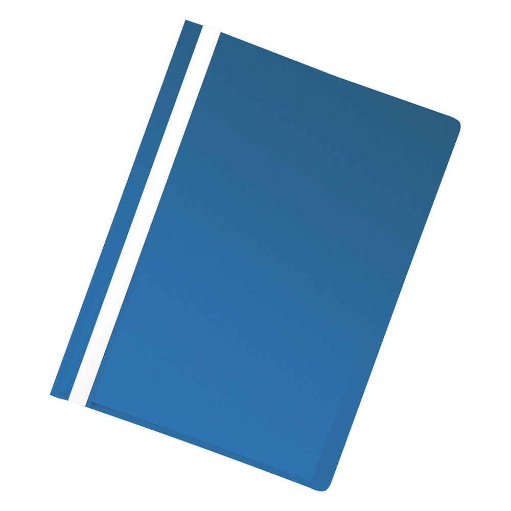 Business Project Flat File Lightweight Polypropylene with Indexing Strip A4 Blue [Pack 5]