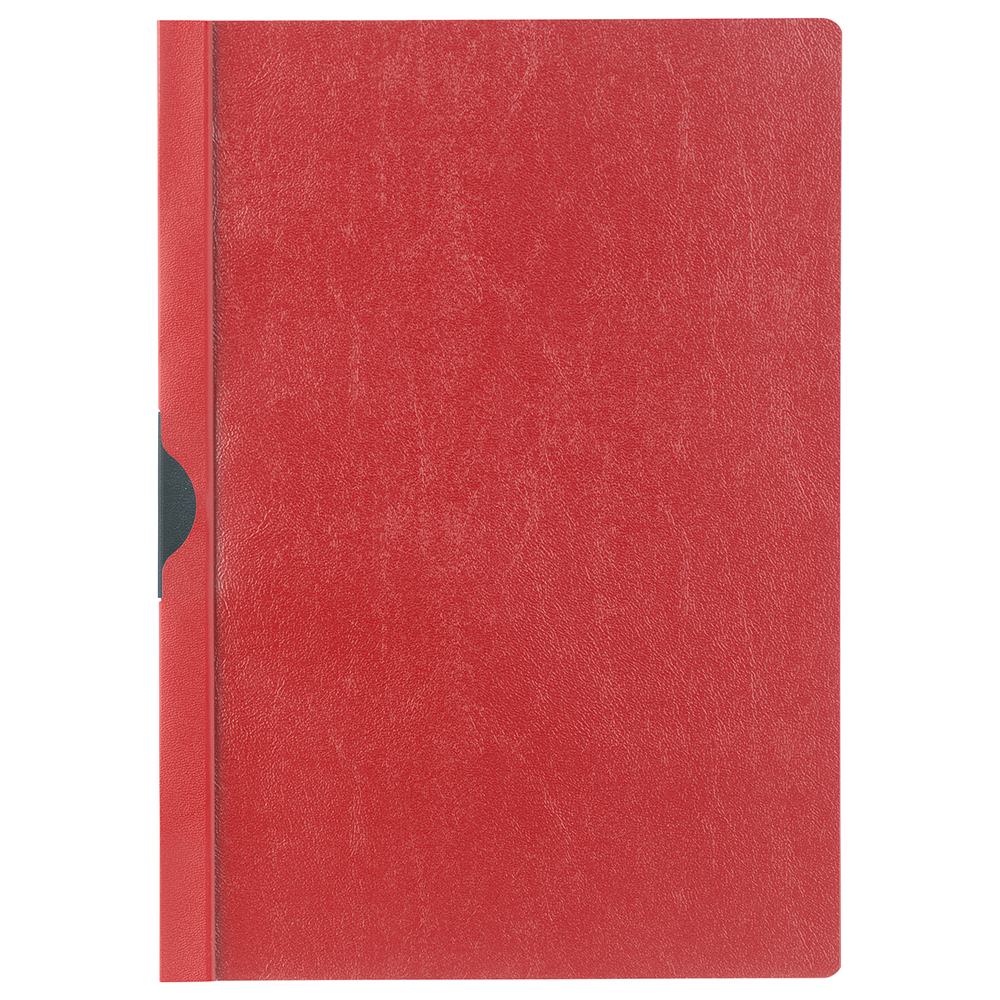 Business Clip Folder 6mm Spine for 60 Sheets A4 Red [Pack 25]