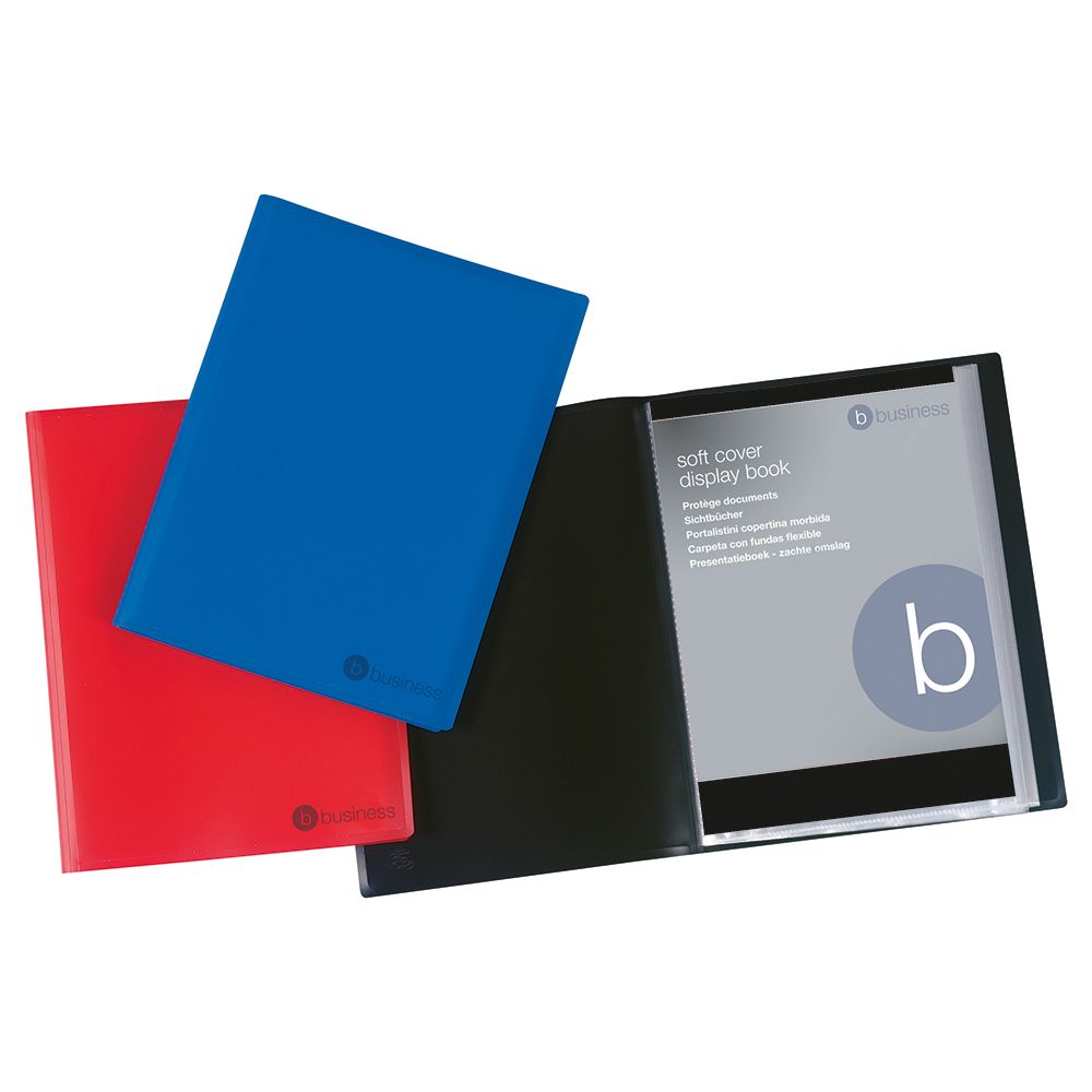 Image for Business Display Book Soft Cover Lightweight Polypropylene 20 Pockets A4 Blue