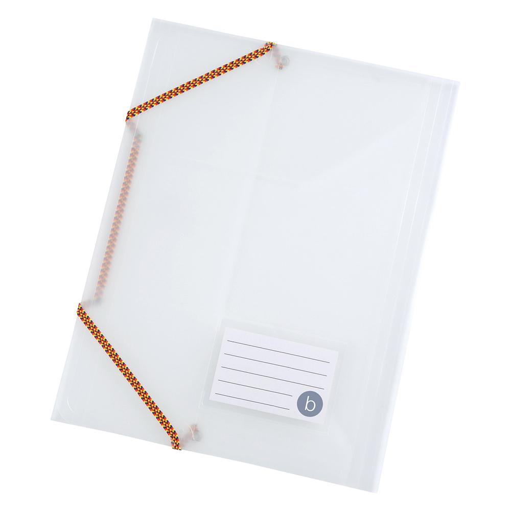 Image for Business 3 Flap Elasticated File Polypropylene A4 Translucent [Pack 5]