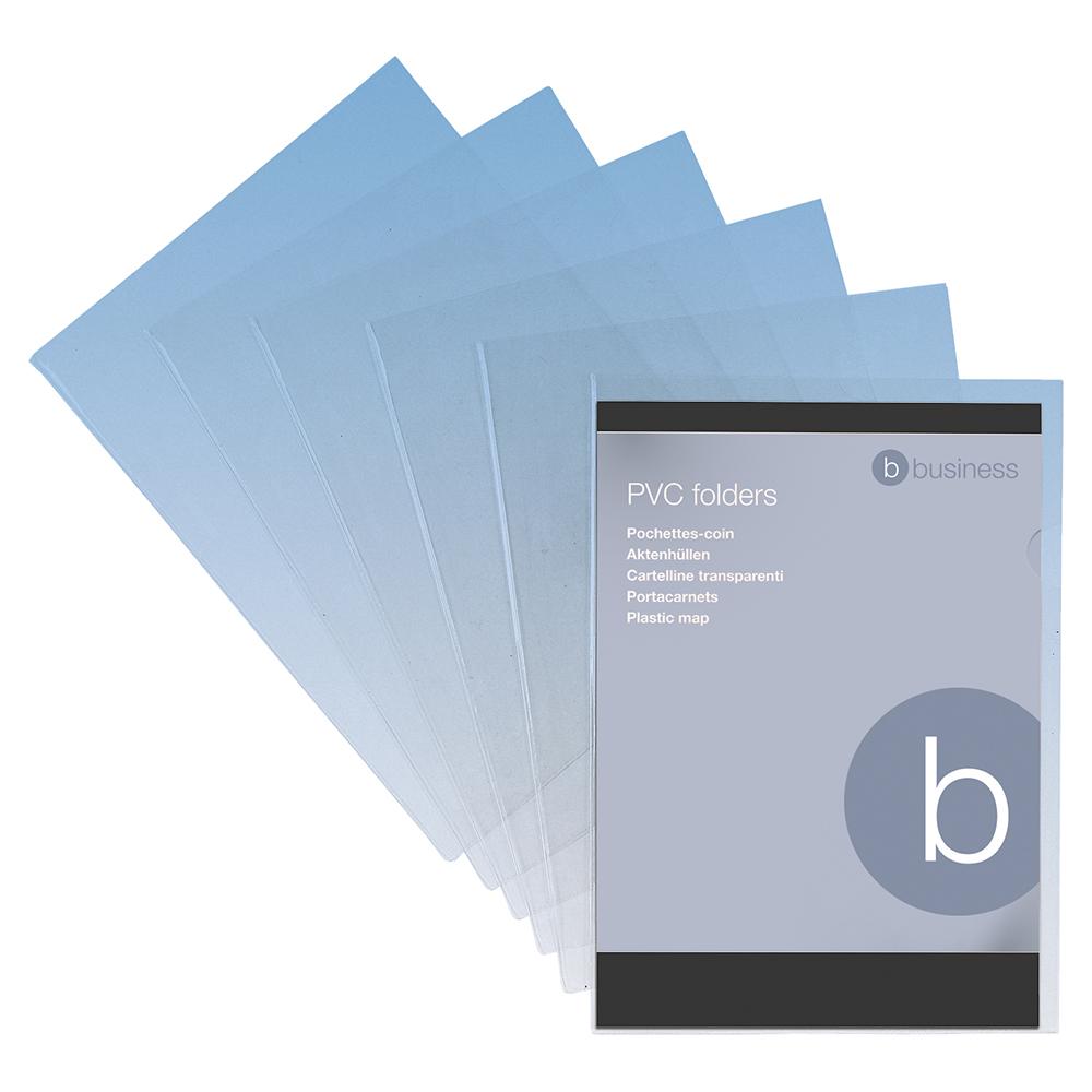 Image for Business Premium Cut Flush Folder PVC 150 Micron A4 Clear [Pack 10]