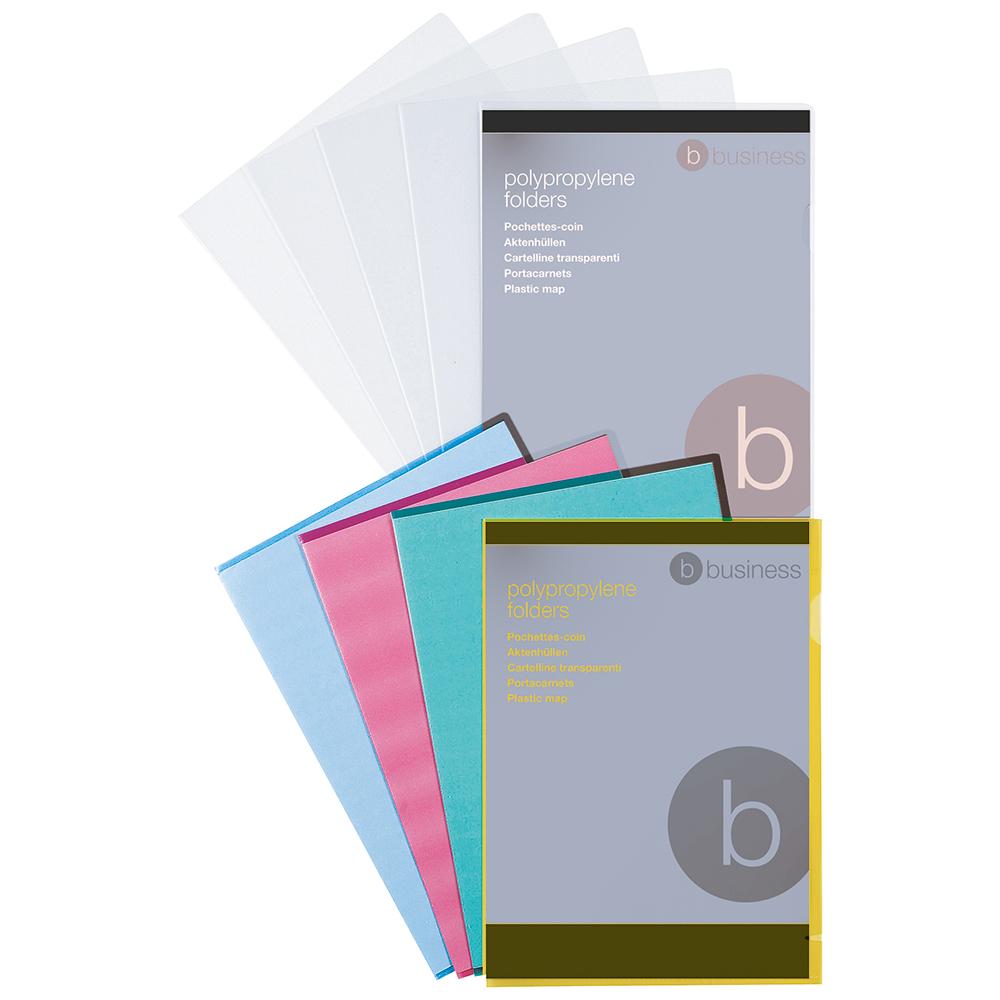 Image for Business Folder Cut Flush Polypropylene Copy-safe Translucent 120 Micron A4 Frosted Clear [Pack 100]