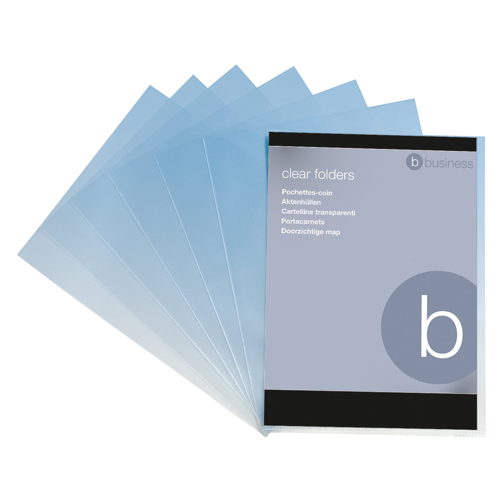 Image for Business Folder Cut Flush Polypropylene Copy-safe 90 Micron A4 Clear [Pack 100]