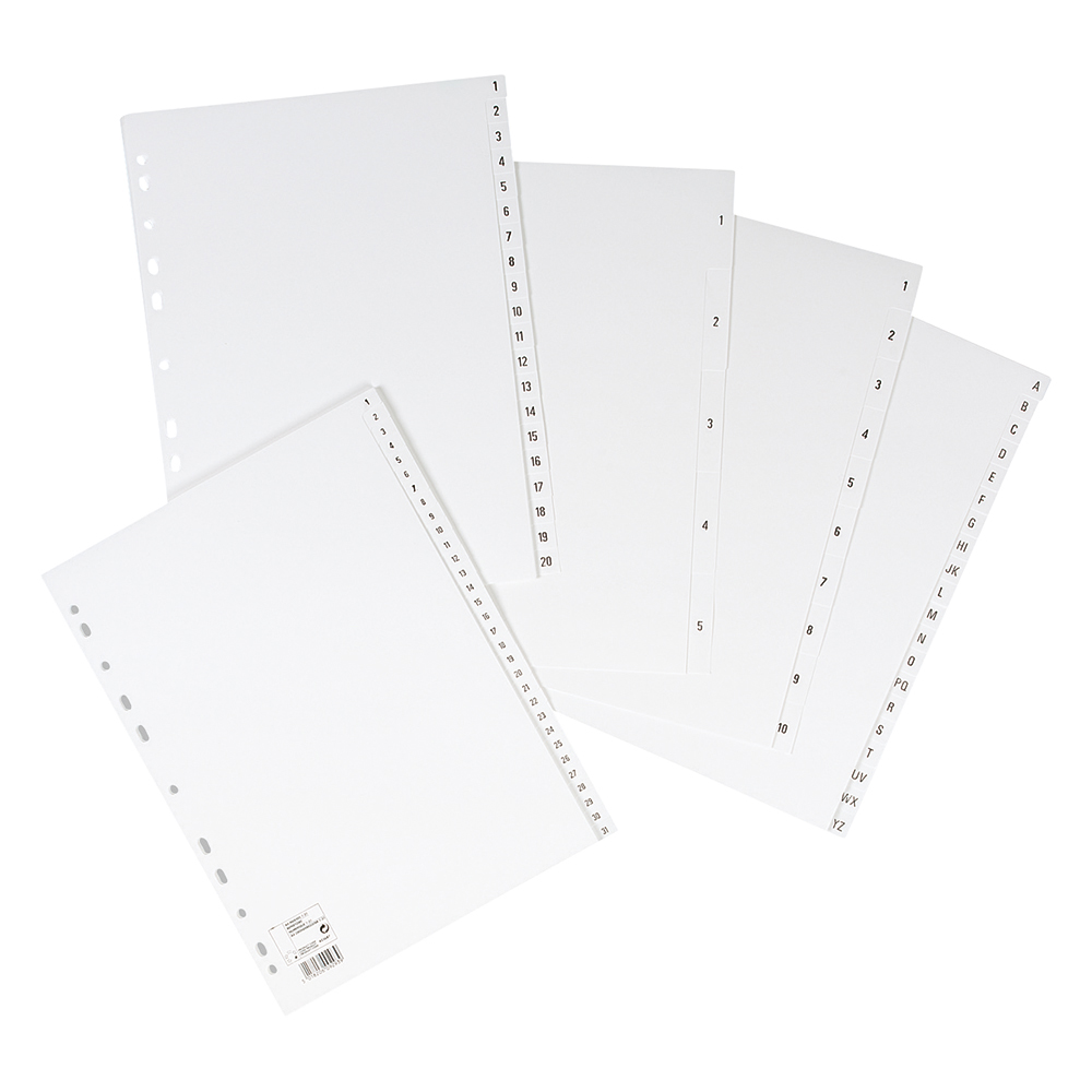 Image for Business Index Multipunched 130 micron Polypropylene 1-5 A4 White