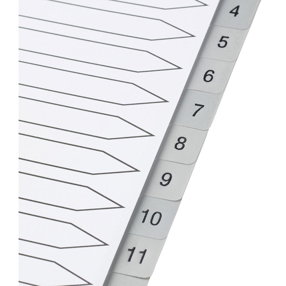 Image for Business Premium File Index Grey Tabs Polypropylene 1-20 White