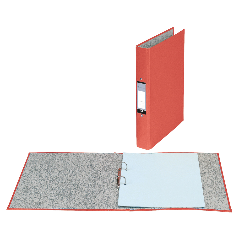 Business Ring Binders 2 O-Ring Size 25mm A4 Red [Pack 10]