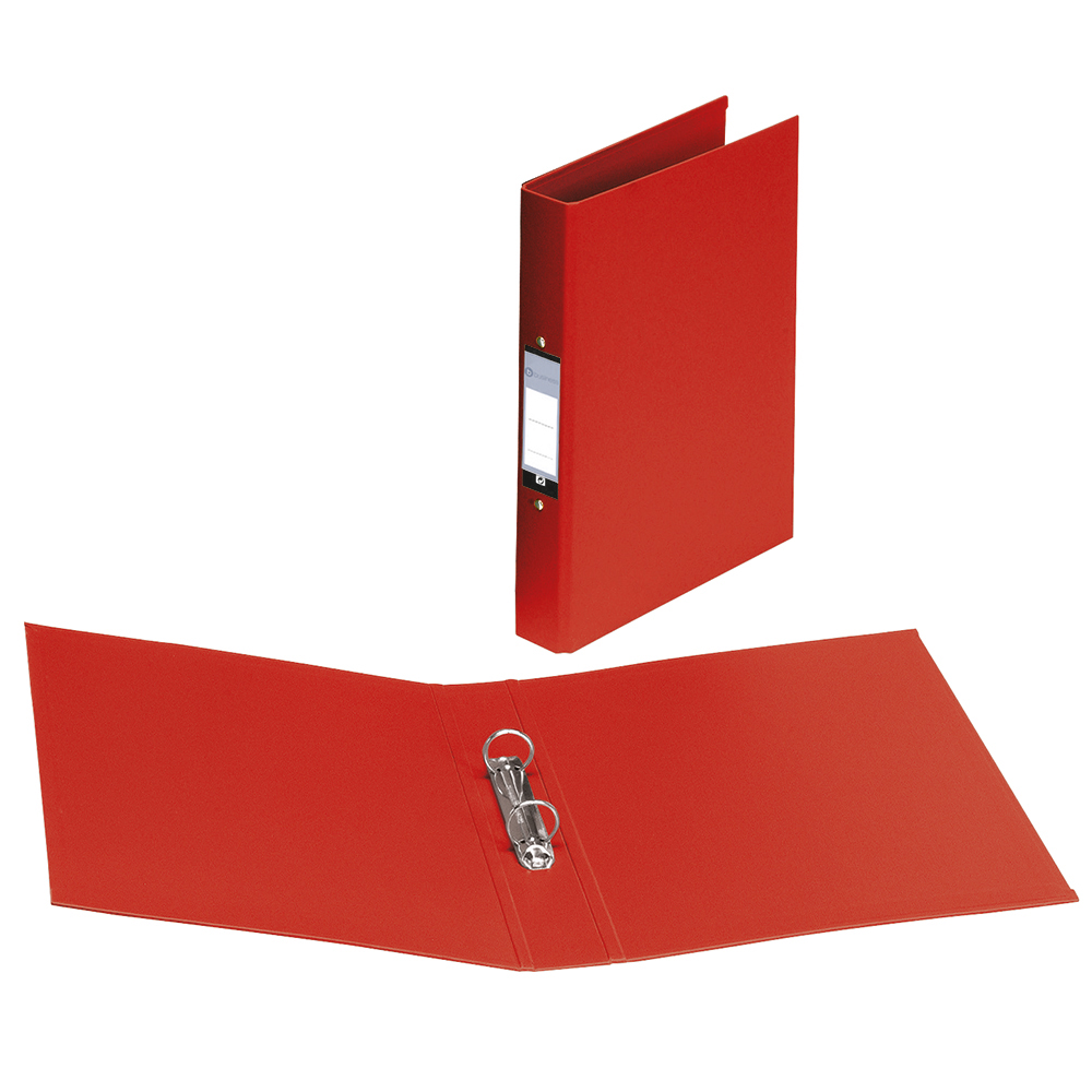 Image for Business Ring Binder 2 O-Ring Size 25mm Polypropylene A4 Red [Pack 10]