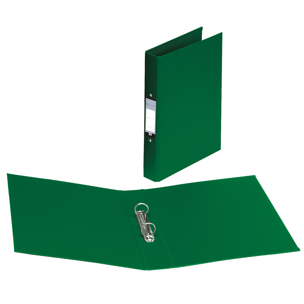 Image for Business Ring Binder 2 O-Ring Size 25mm Polypropylene A4 Green [Pack 10]