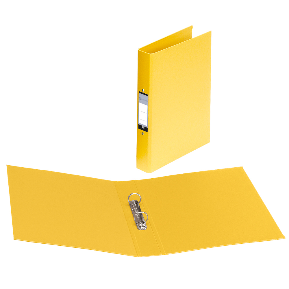 Business Ring Binder 2 O-Ring Size 25mm Polypropylene A4 Yellow [Pack 10]