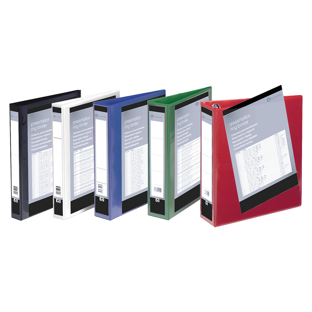 Image for Business Presentation Ring Binder PVC 4 D-Ring 16mm Size A4 White [Pack 10]