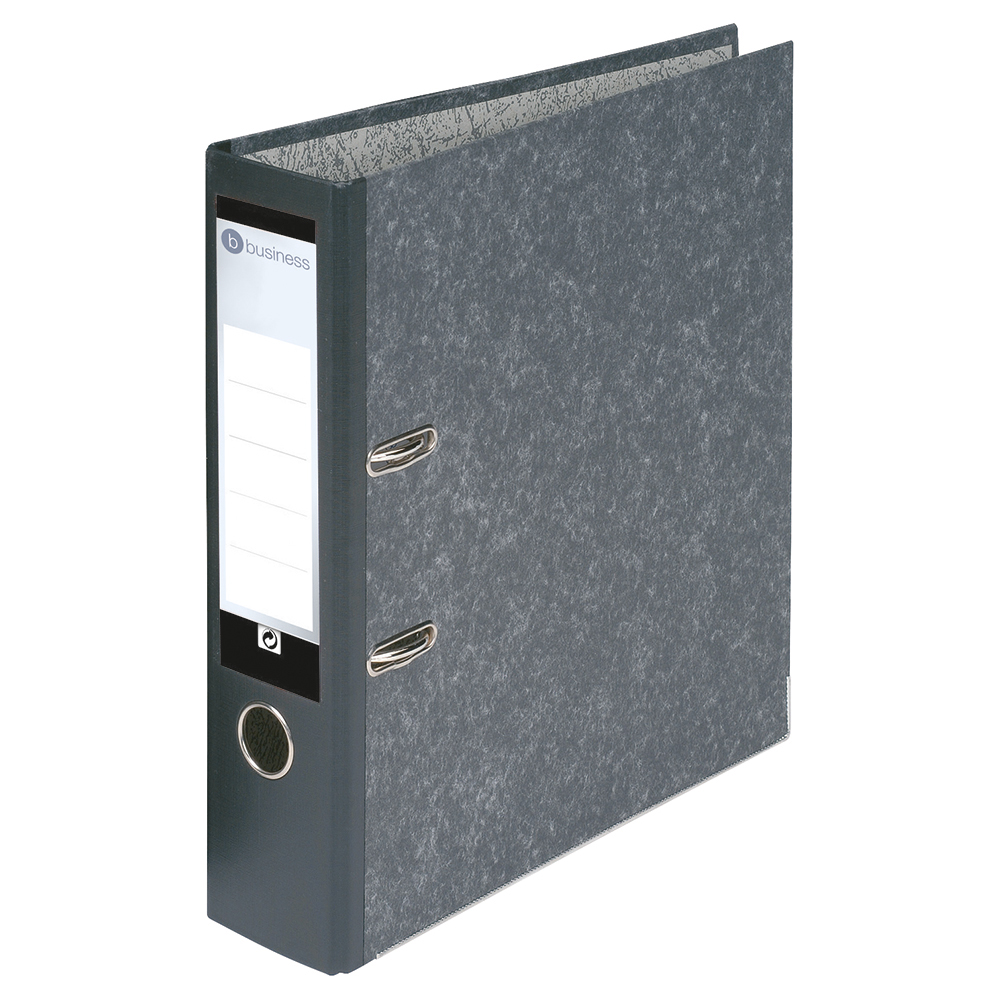 Business Lever Arch File 70mm Foolscap Cloudy Grey [Pack 10]