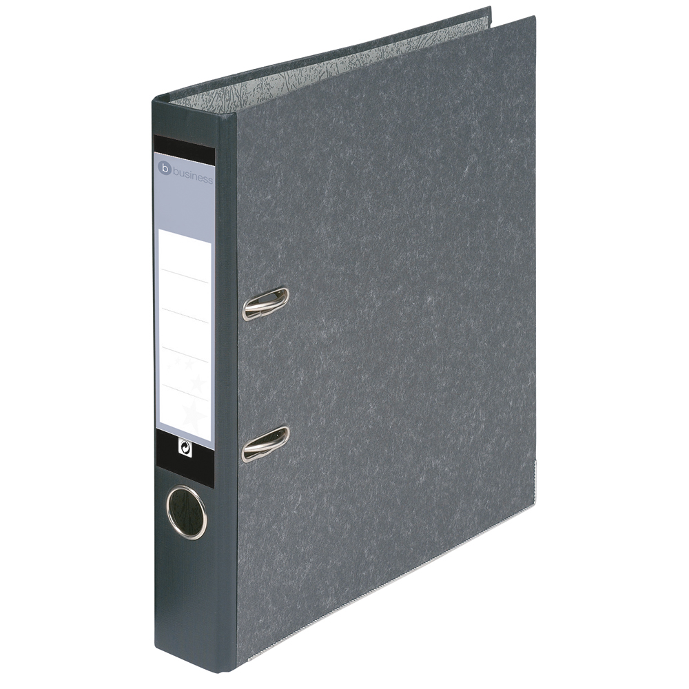 Business Mini Lever Arch File 50mm Spine Foolscap Cloudy Grey [Pack 10]
