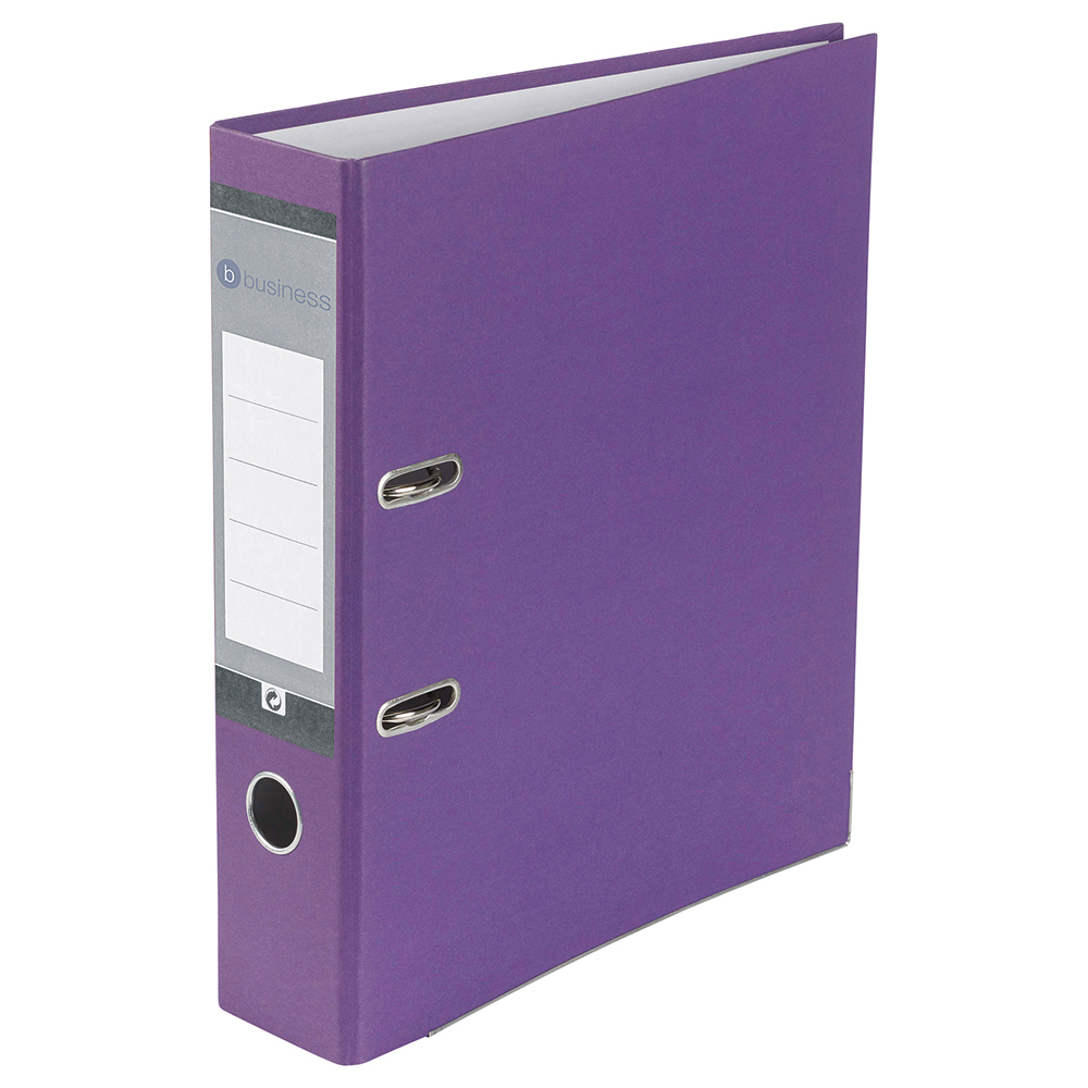 Image for Business Lever Arch File 70mm A4 Purple [Pack 10]