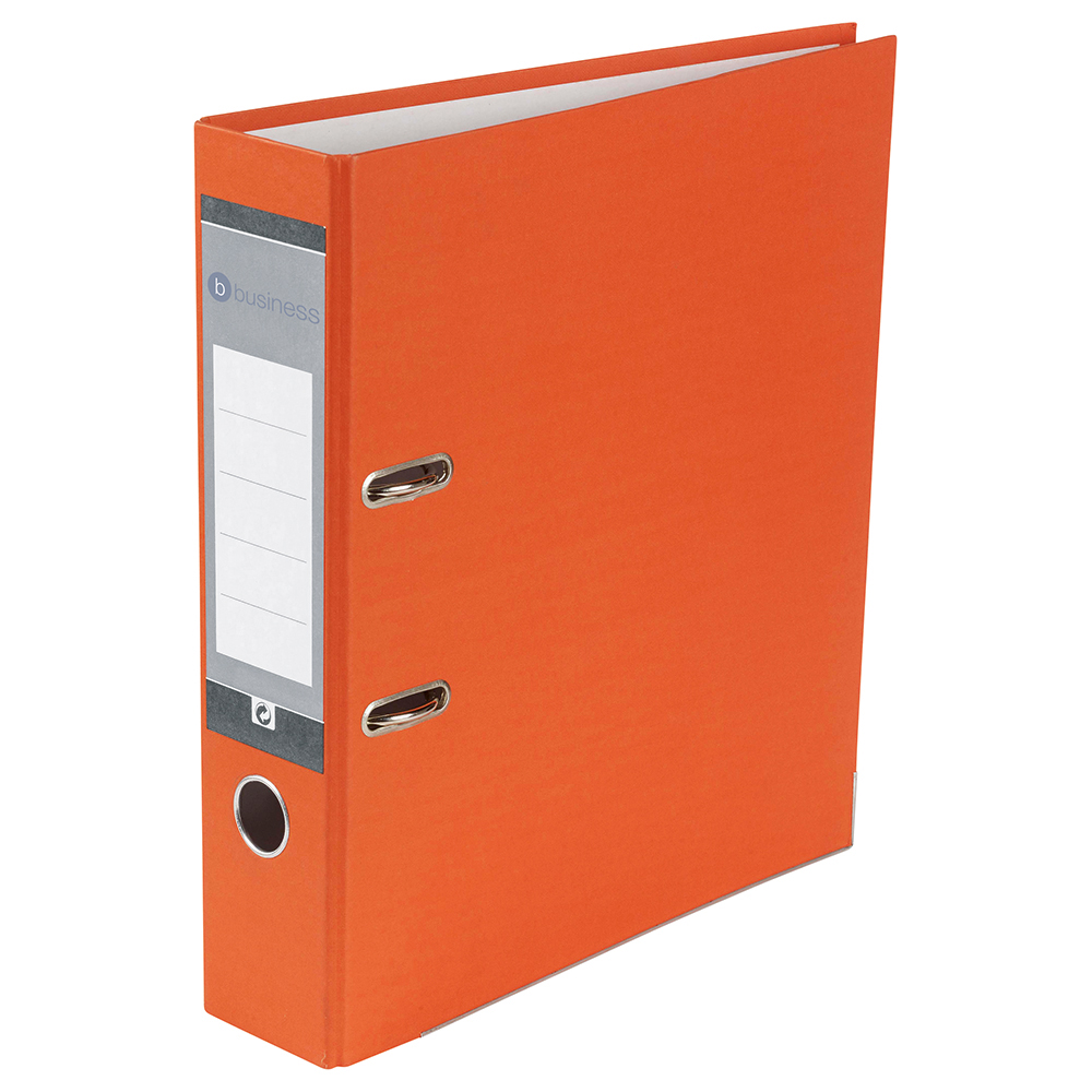 Image for Business Lever Arch File 70mm A4 Orange [Pack 10]