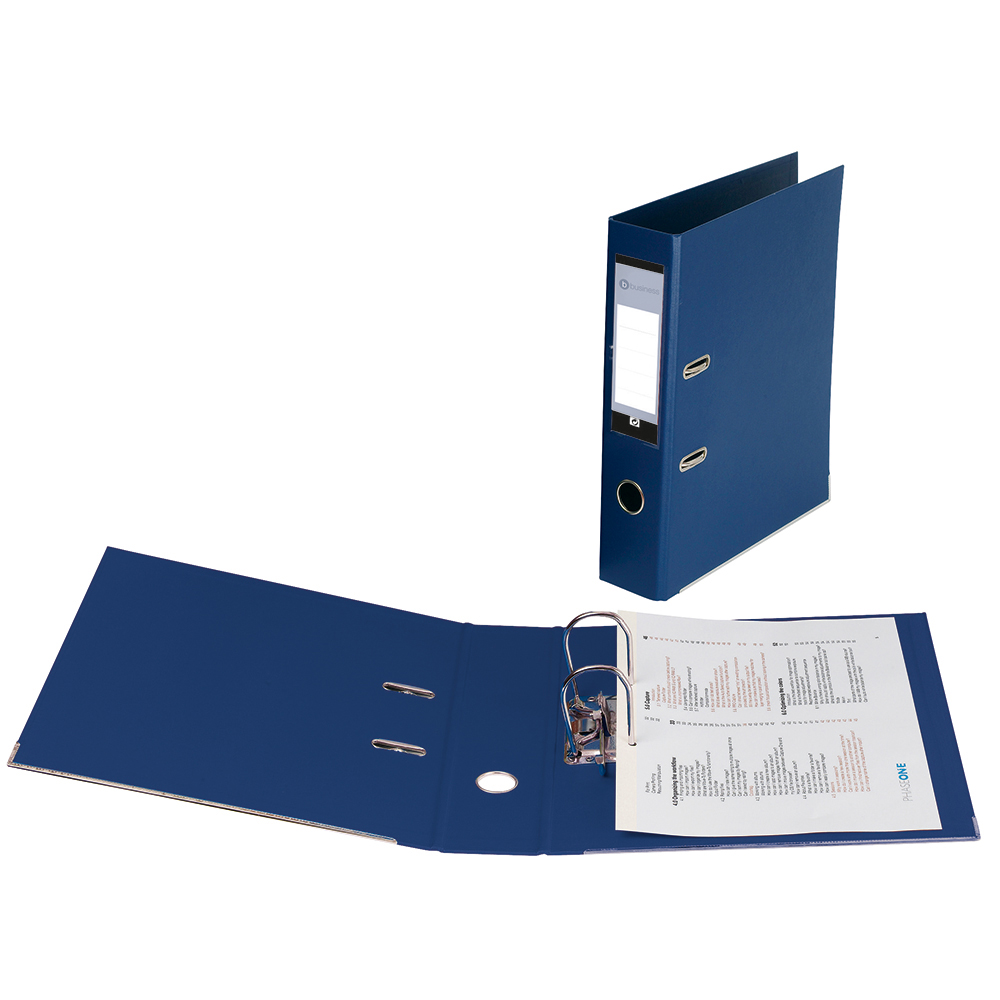 Business Lever Arch File Polypropylene Capacity 70mm Foolscap Blue [Pack 10]