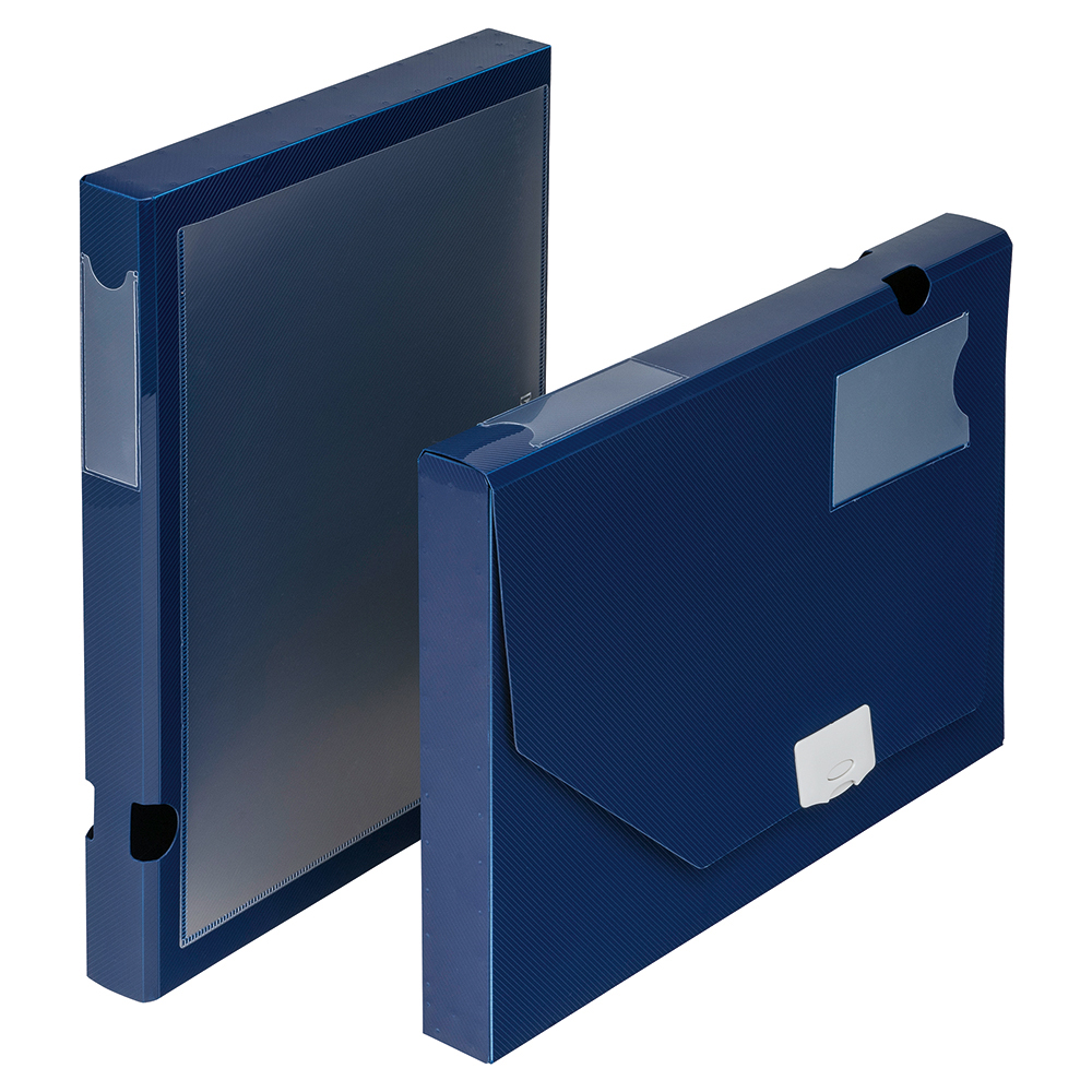 Image for Business Document Box Polypropylene 30mm A4 Blue [Pack 10]