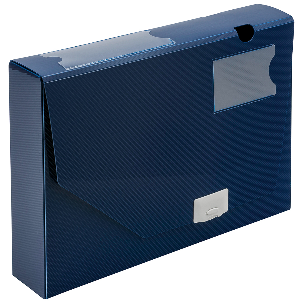 Image for Business Document Box Polypropylene 60mm A4 Blue [Pack 10]