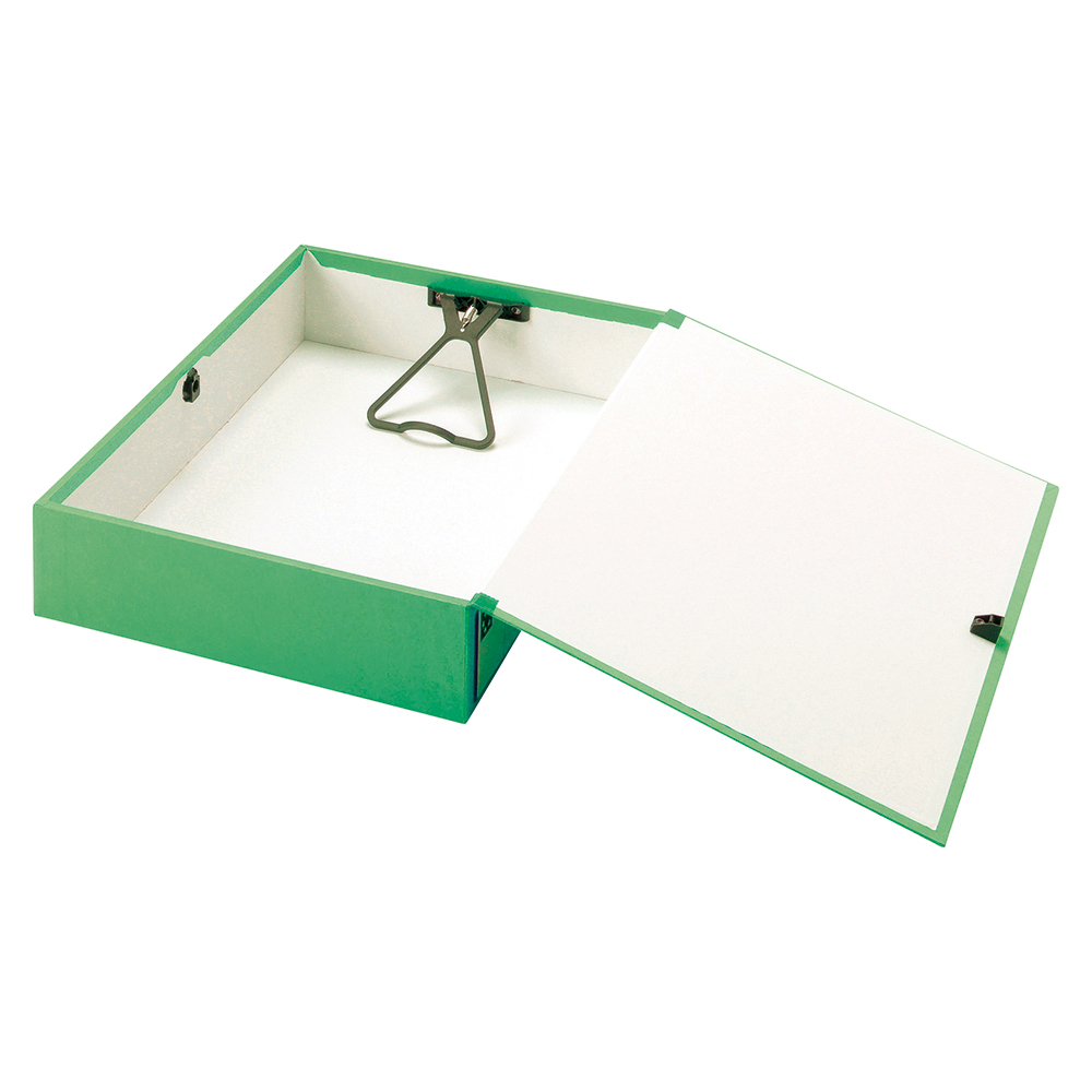 Image for Business Box File Lock Spring with Push Button Closure 70mm Capacity Foolscap Green [Pack 5]