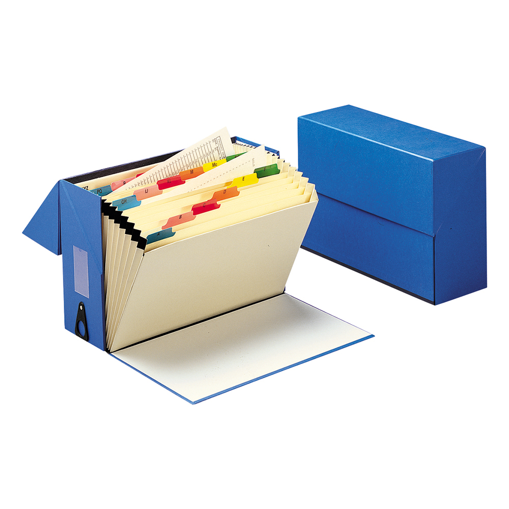 Business Expanding Box File 19 Pockets A-Z Foolscap W374xD134xH253mm Blue