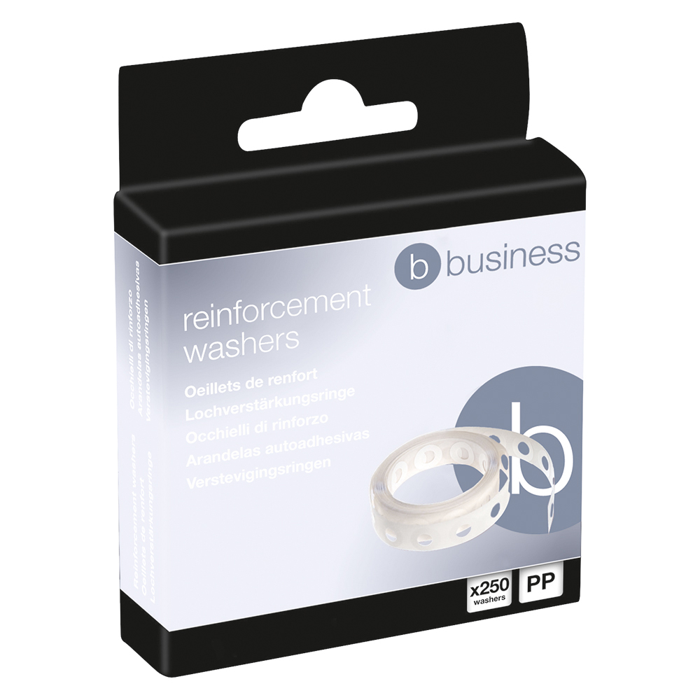 Image for Business Vinyl Reinforcement Washers [Box 250]