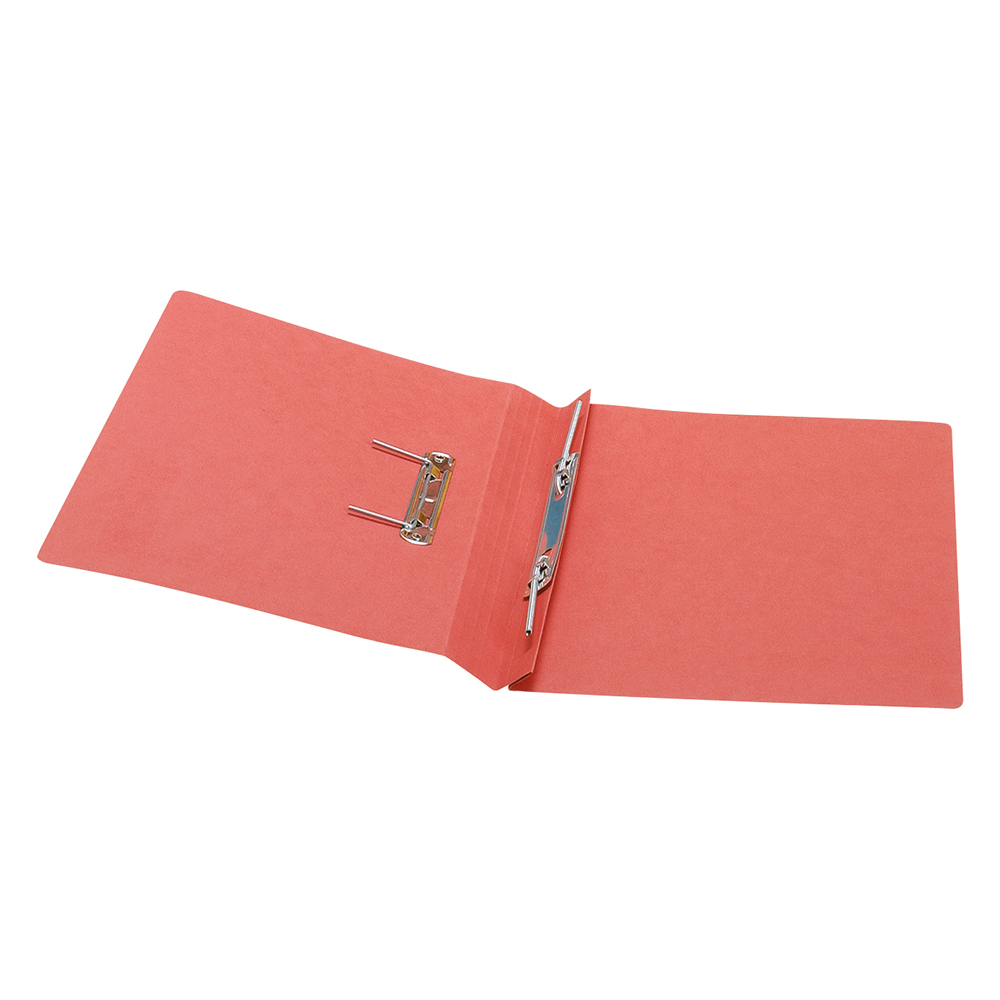 Business Transfer Spring File Recycled 285gsm Capacity 38mm Foolscap Red [Pack 50]