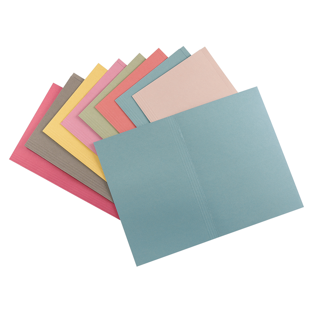 Image for Business Premium Square Cut Folders Manilla 315gsm Foolscap Buff [Pack 100]