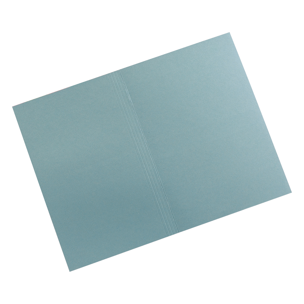Image for Business Premium Square Cut Folders Manilla 315gsm Foolscap Blue [Pack 100]