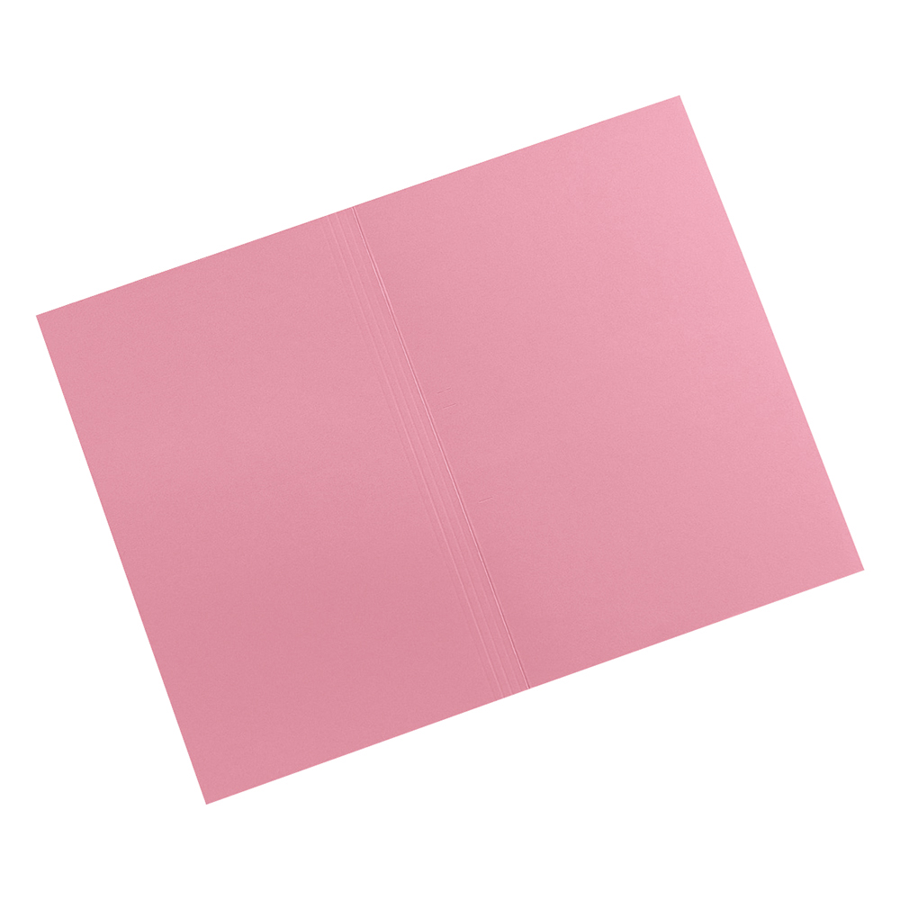 Image for Business Premium Square Cut Folders Manilla 315gsm Foolscap Pink [Pack 100]