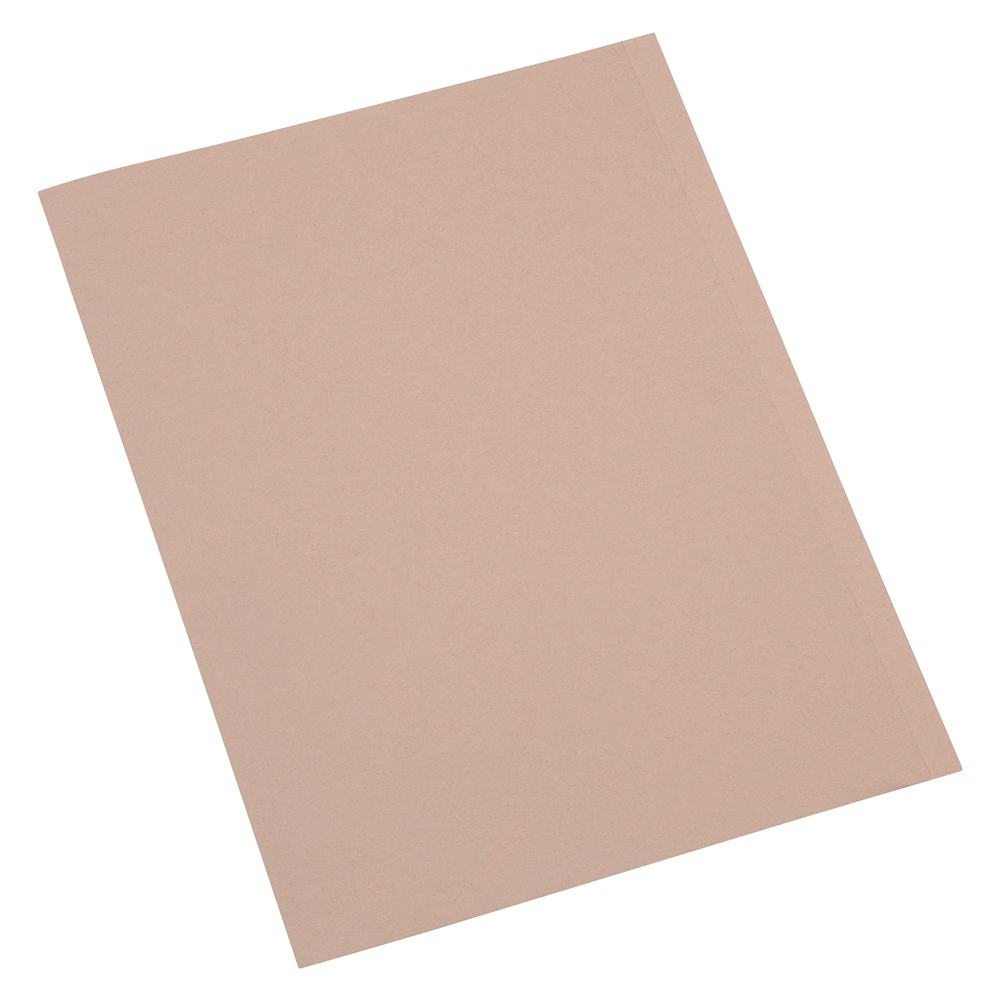 Business Square Cut Folder Recycled Pre-punched 250gsm A4 Buff [Pack 100]