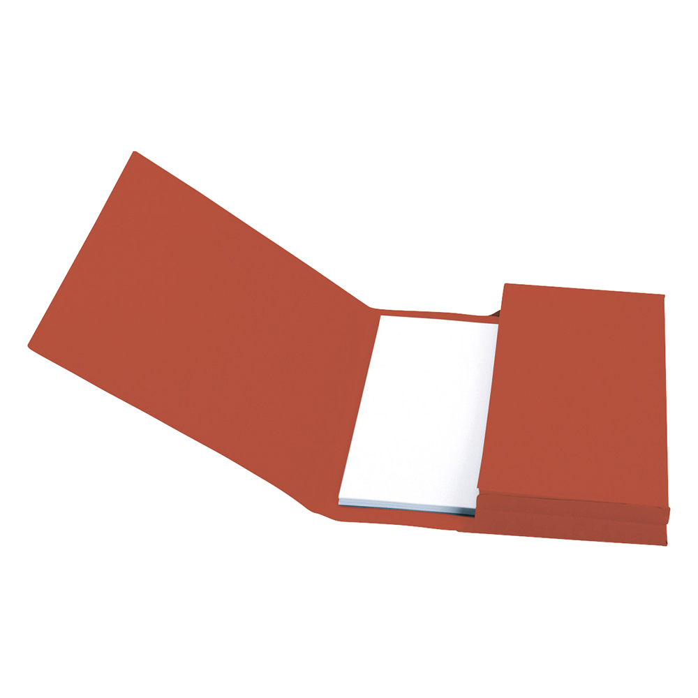 Image for Business Document Wallet Full Flap 285gsm Recycled Capacity 32mm Foolscap Red [Pack 50]