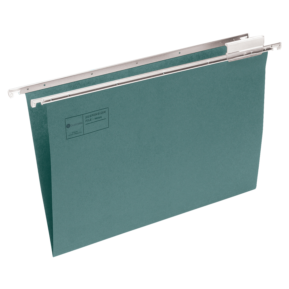Business Suspension File with Tabs and Inserts Manilla A4 Green (Pack of 50)