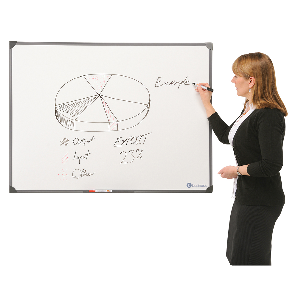 Business Drywipe Board Lightweight with Fixing Kit and Detachable Pen Tray W1200xH900mm