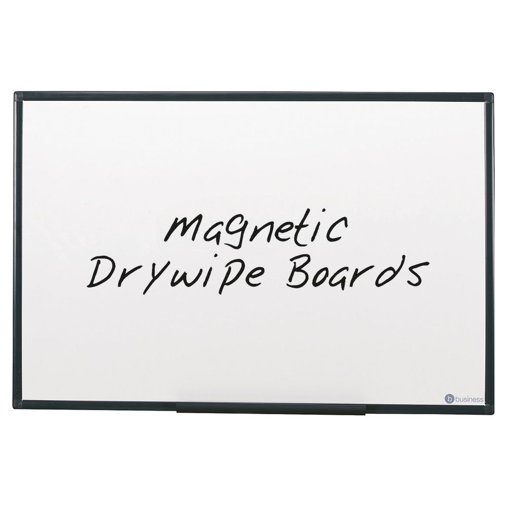 Business Drywipe Board Magnetic Lightweight with Fixing Kit and Detachable Pen Tray W1800xH1200mm
