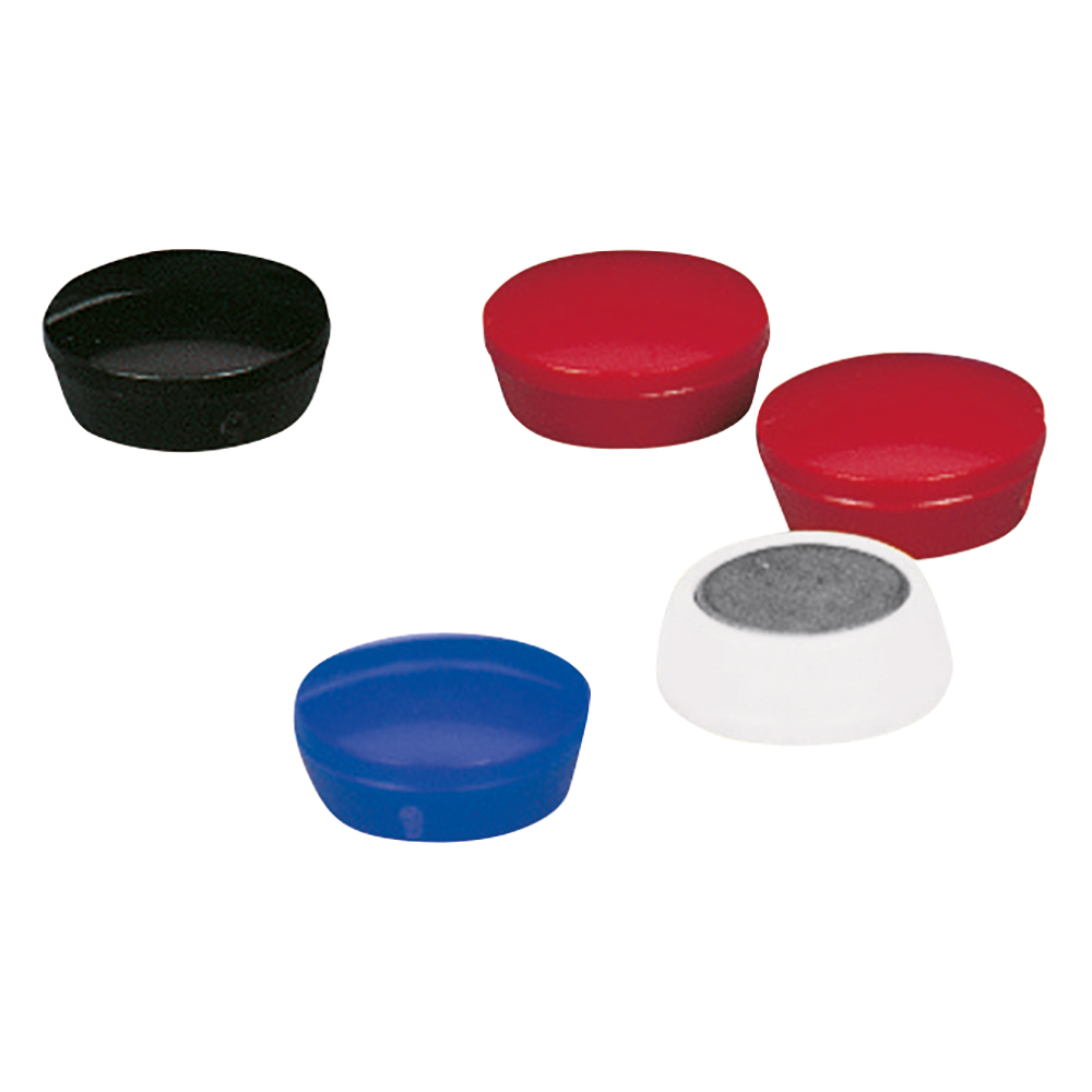 Business Round Plastic Covered Magnets 20mm Blue [Pack 10]