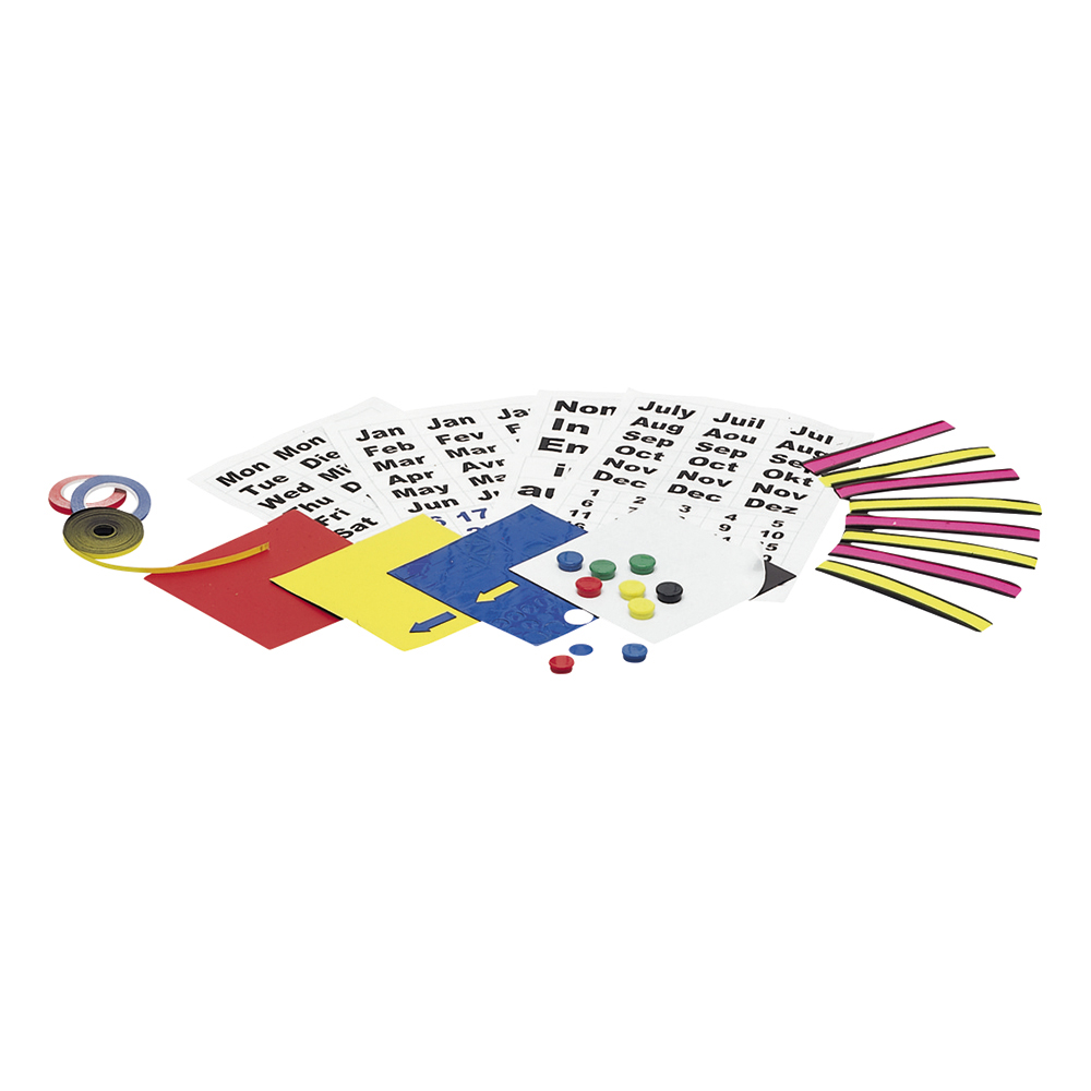 Business Magnetic Planning Kit with Name Holders Month and Day Symbols