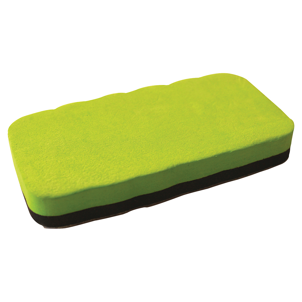 Business Premium Drywipe Eraser Magnetic Lime Green