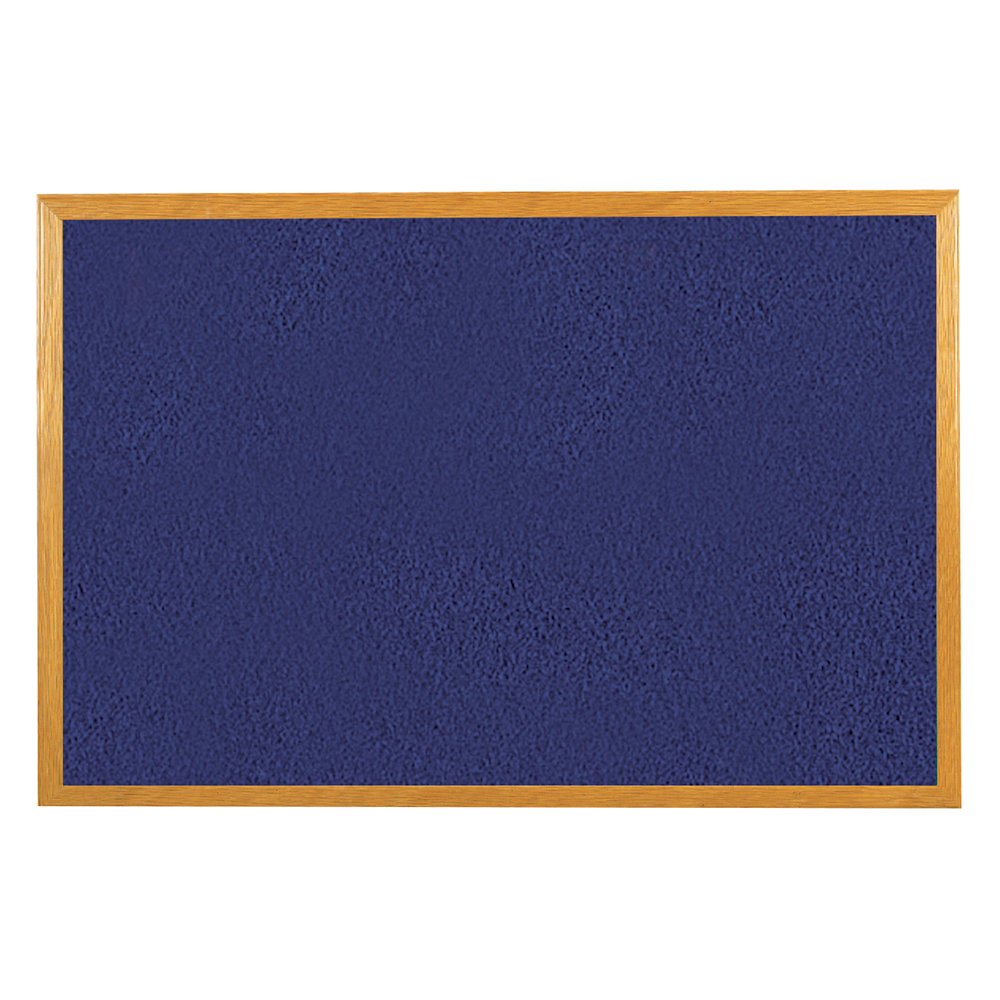 Business Felt Noticeboard Wooden Frame W900xH600mm Blue